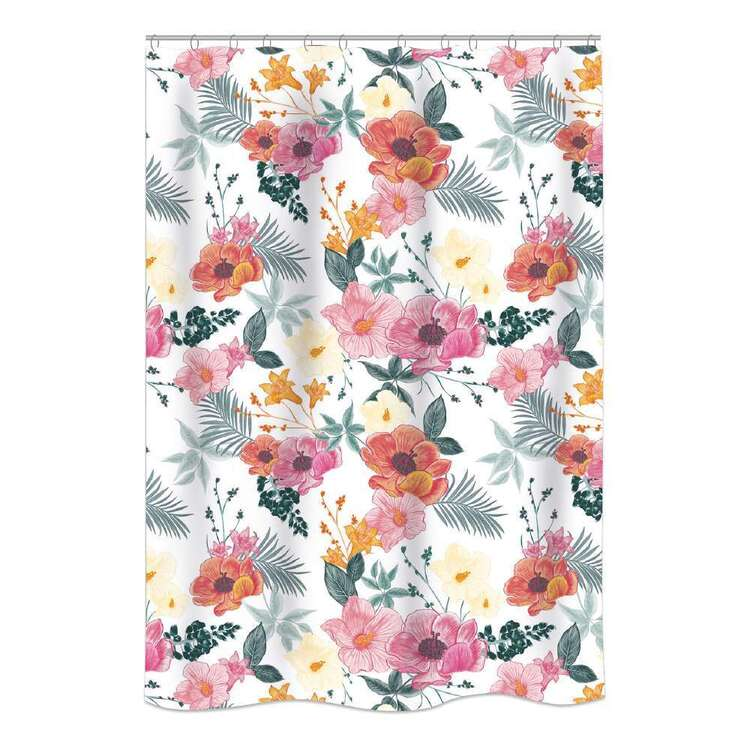 Bath By Ladelle Island Flower Shower Curtain