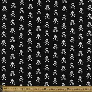 Mix Monotones Skull Cotton Fabric