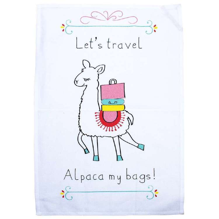 Kitchen By Ladelle Alpaca Tea Towel White 45 x 70 cm