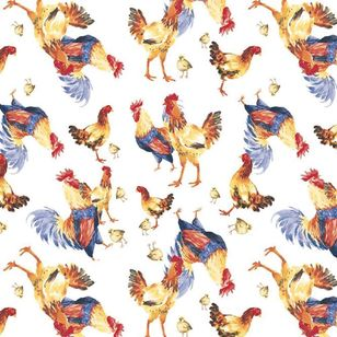 Dine By Ladelle Chickens Printed Tabletone
