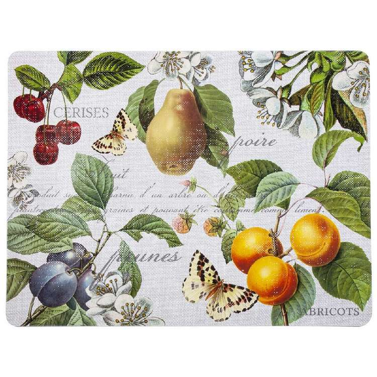 Dine By Ladelle Fruit Placemats 4 Pack