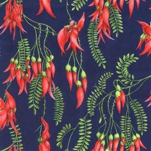 Kiwiana Kaka Beak Cotton Fabric