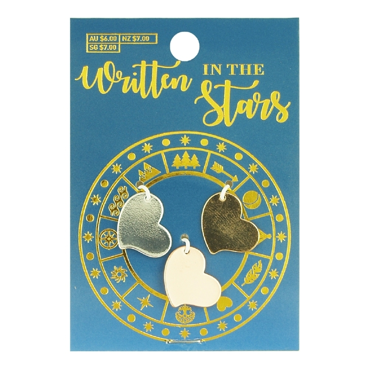 Written In The Stars Heart Charms