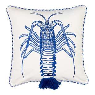 Koo Home Lobster Embroidered Cushion