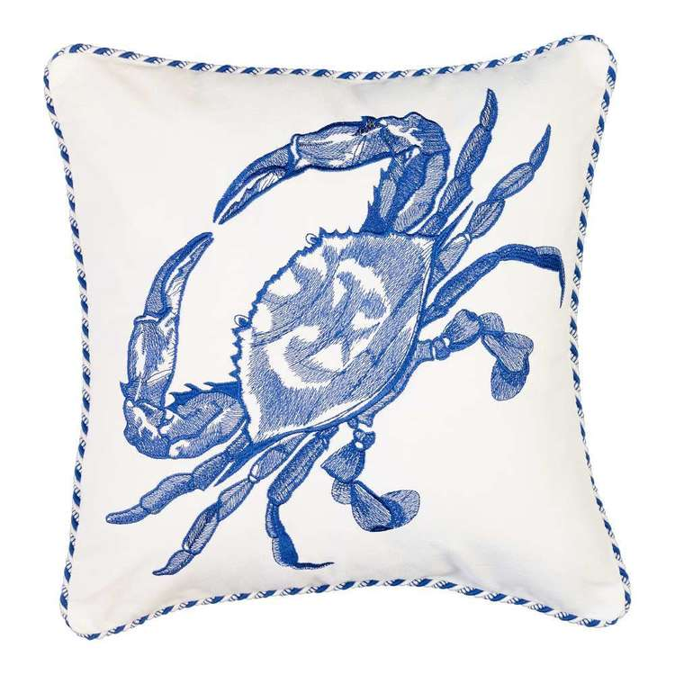 Koo Home Crab Embroidered Cushion