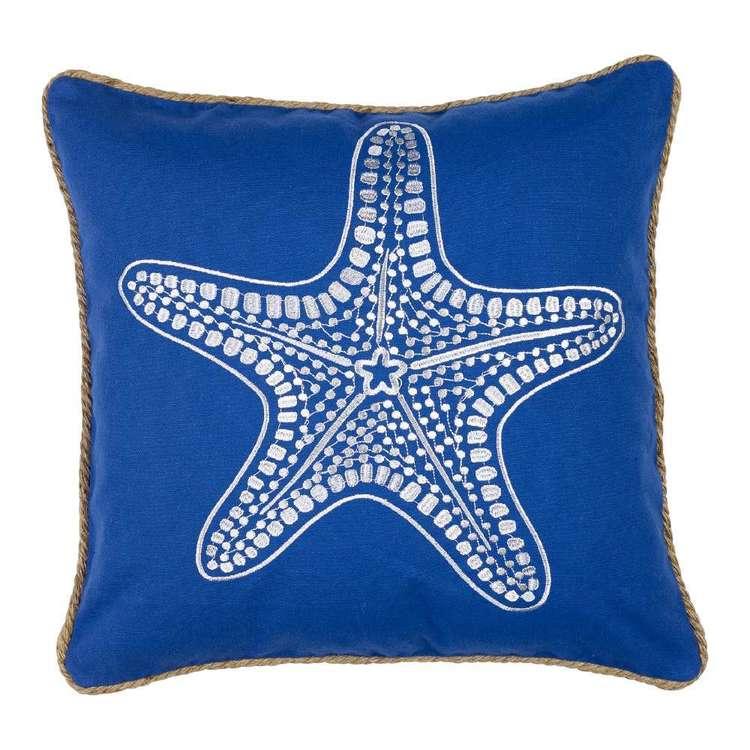 Koo Home Starfish Embroidered Cushion