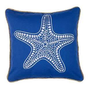 Koo Home Starfish Embroidered Cushion