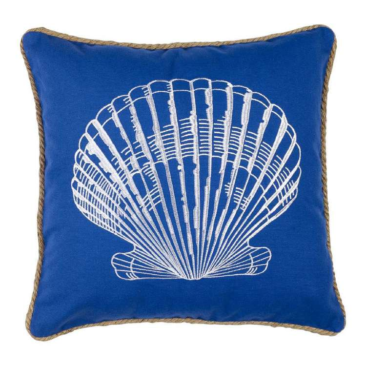 Koo Home Shells Embroidered Cushion