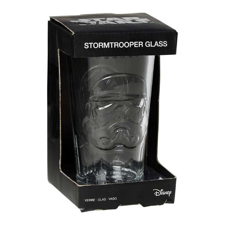 Star Wars Stormtrooper Shaped Glass Multicoloured