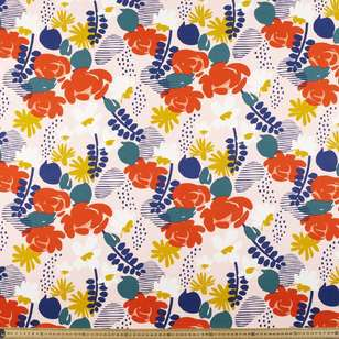 Floral # 3 Rayon Spandex Knit Fabric