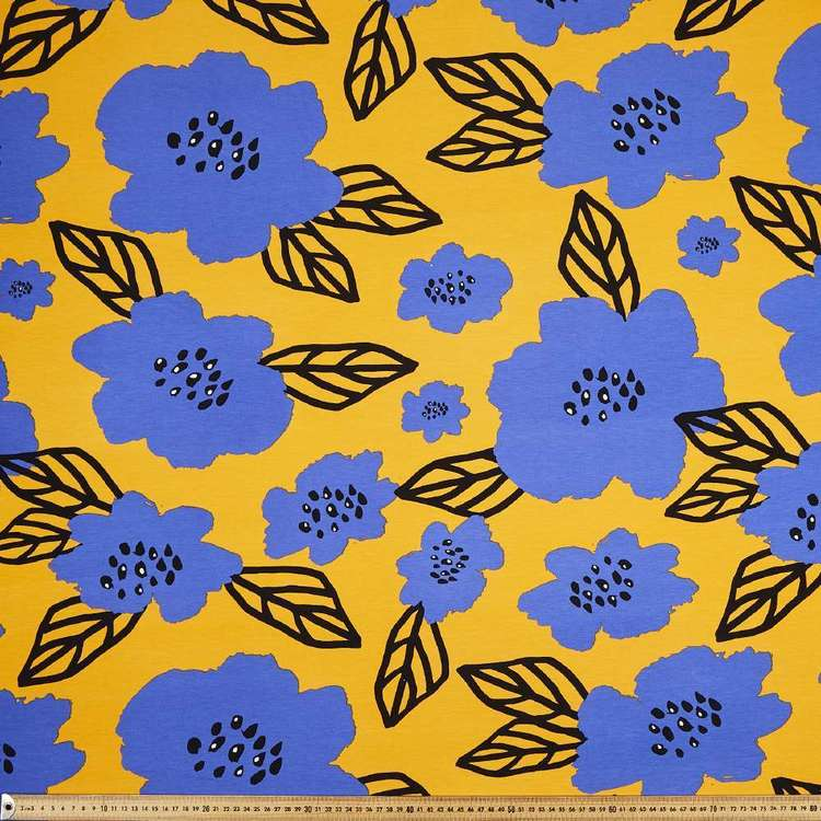 Floral # 2 Rayon Spandex Knit Fabric