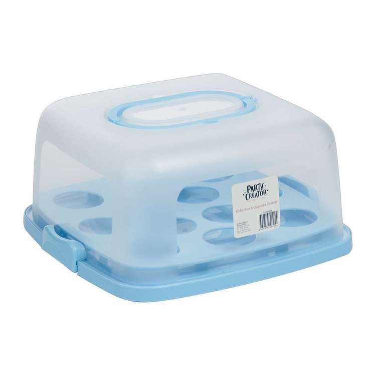 Party Creator Square Cake Box & Cupcake Carrier Blue
