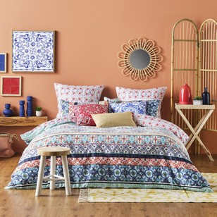Ombre Home Mediterranean Summer Valencia Quilt Cover Set