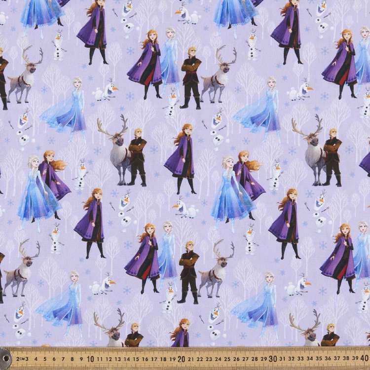 Disney Frozen 2 Friends Allover Cotton Fabric