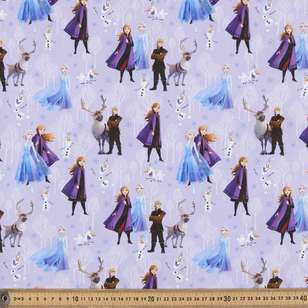 Disney Frozen 2 Friends Allover Cotton Fabric