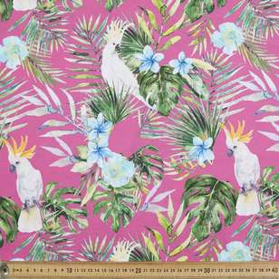 Cockatoo Digital Printed Cotton Poplin Fabric