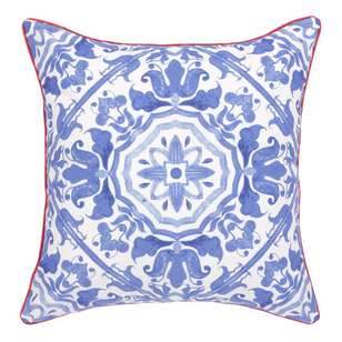Ombre Home Mediterranean Summer Tile Cushion