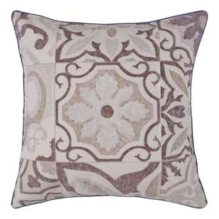 Ombre Home Mediterranean Summer Floral Tile Cushion