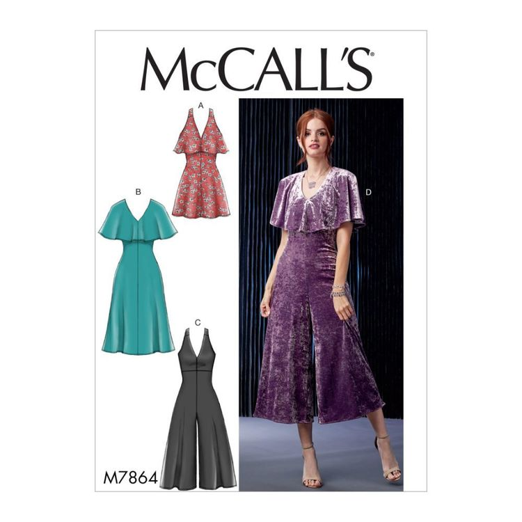 McCall's Pattern M7864 Misses'/Miss Petite Dresses and Jumpsuits