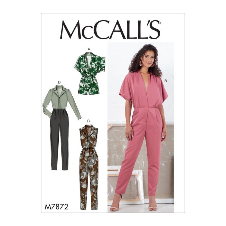McCall's Pattern M7872 Misses' Romper and Jumpsuit