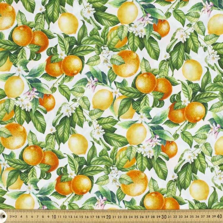 Citrus Digital Printed Cotton Poplin Fabric