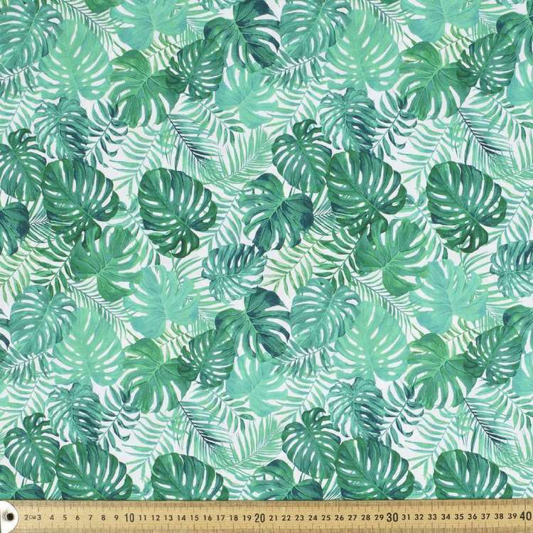Leaves Digital Printed Cotton Poplin Fabric