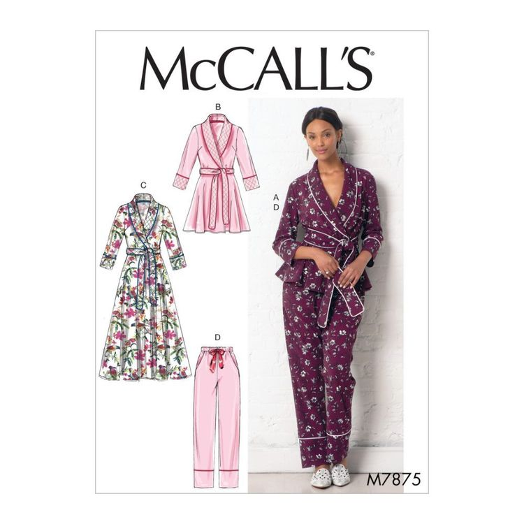 McCall's Pattern M7875 Misses' Jacket, Robe, Pants and Belt