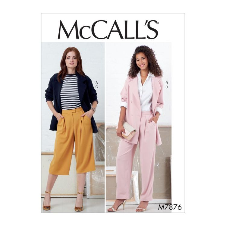 McCall's Pattern M7876 Misses' Jackets and Pants
