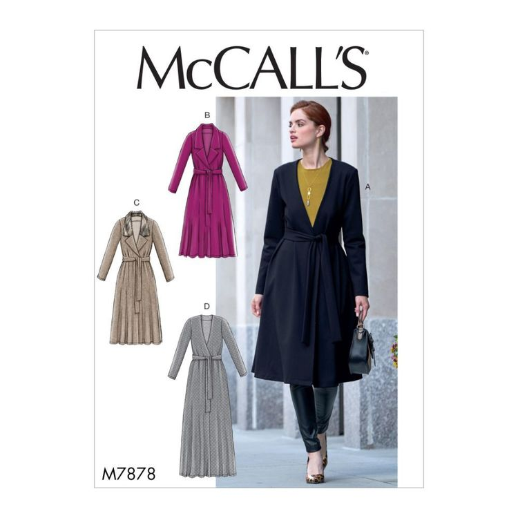 McCall's Pattern M7878 Misses' Jacket and Belt