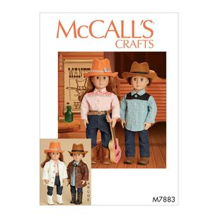 "McCall's Pattern M7883 Clothes, Hat and Belt For 18"" Doll"