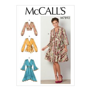 McCall's Pattern M7892 Misses' Tops and Dresses