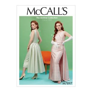 McCall's Pattern M7897 The Archive Collection Misses' Dresses