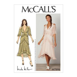 McCall's Pattern M7898 Nicole Miller Misses' Dress