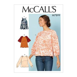 McCall's Pattern M7899 Misses' Tops