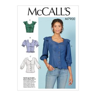 McCall's Pattern M7900 Misses' Tops