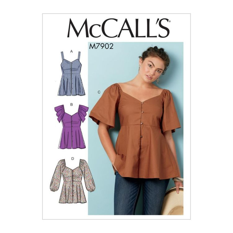 McCall's Pattern M7902 Misses' Tops