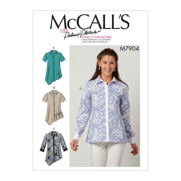 McCall's Pattern M7904 Palmer/Pletsch Misses' Shirts
