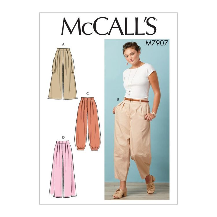 McCall's Pattern M7907 Misses' Pants