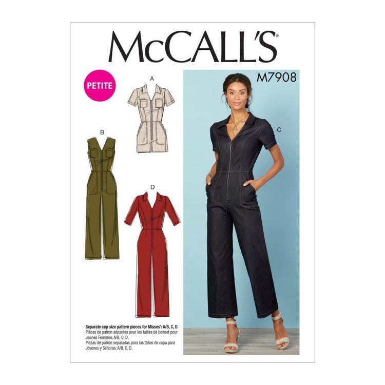 McCall's Pattern M7908 Misses'/Miss Petite Jumpsuits
