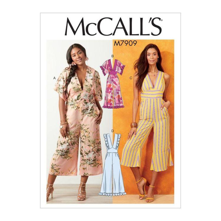 McCall's Pattern M7909 Misses'/Women's Jumpsuits