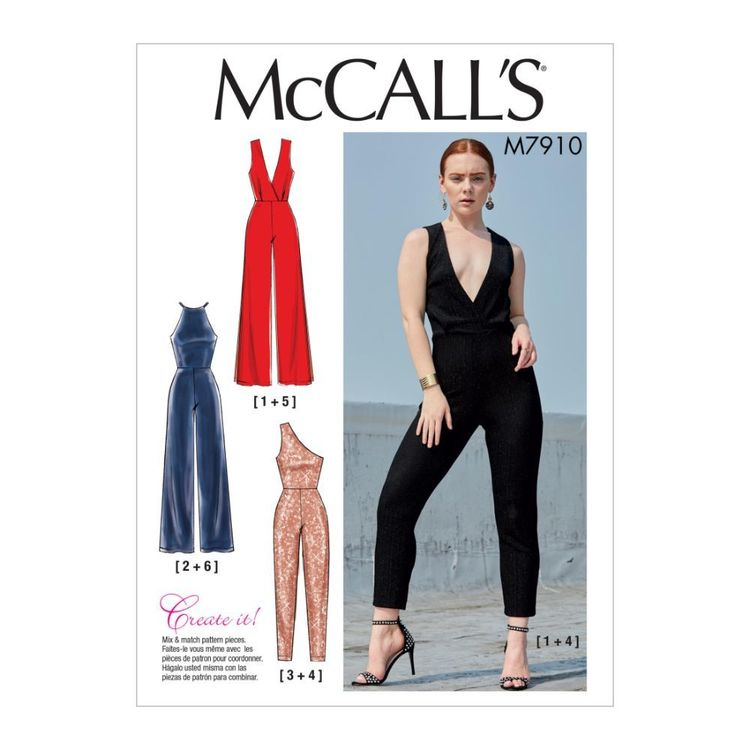 McCall's Pattern M7910 Misses' Jumpsuits