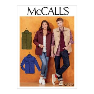 McCall's Pattern M7913 Misses'/Men's Jacket and Vest