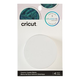 Cricut Infusible Ink Blank Ceramic Round Coasters 4 Pack