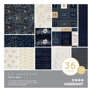 Kaisercraft Starry Night 6.5 Inches Paper Pad