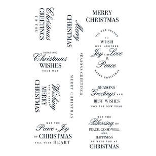 Kaisercraft Christmas Greetings Clear Stamp