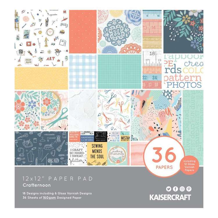 Kaisercraft Crafternoon Paper Pad Multicoloured