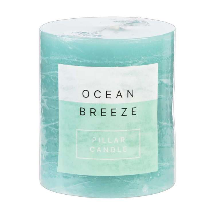 Living Space Ocean Breeze Pillar Candle