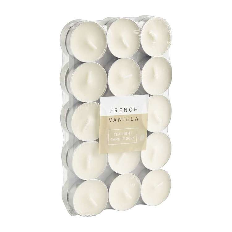 Living Space Tea Light Candle 30 Pack - Everyday Bargain Vanilla