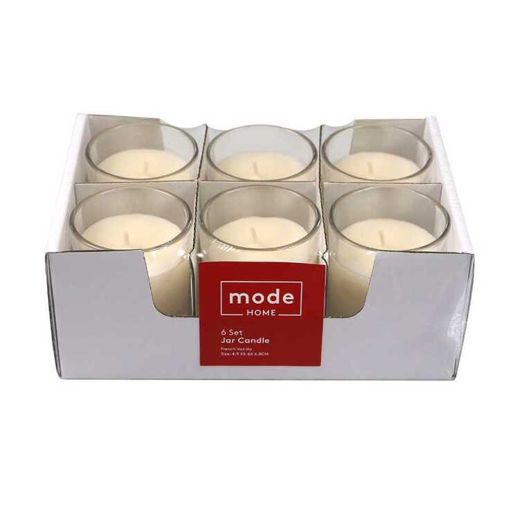 Mode Vanilla Set Of 6 Candle Jar Vanilla