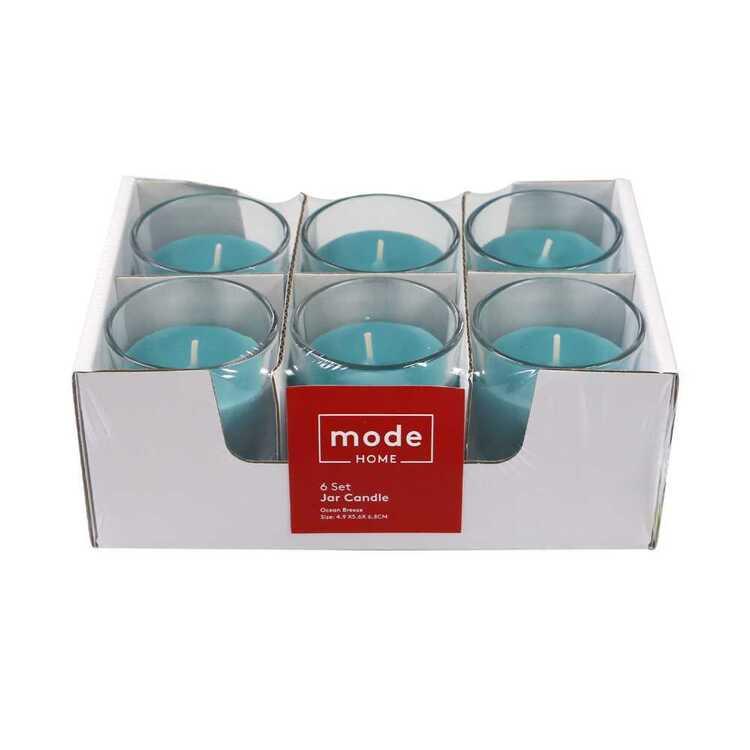 Mode Set of 6 Ocean Breeze Scented Candle Jar